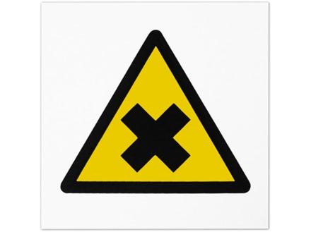 Caution harmful symbol safety sign.