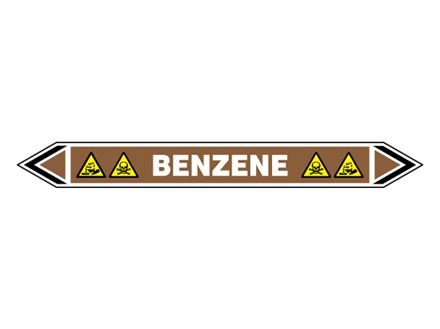 Benzene flow marker label.