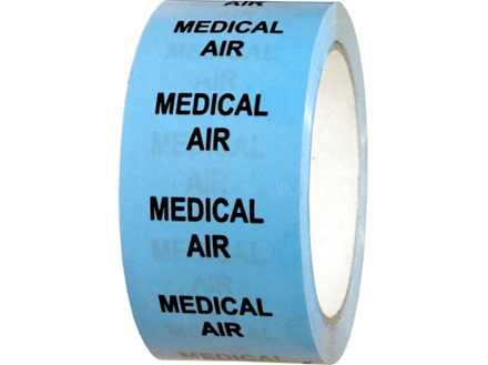 Medical air pipeline identification tape.