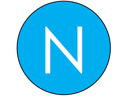 Neutral conductor AC symbol label.