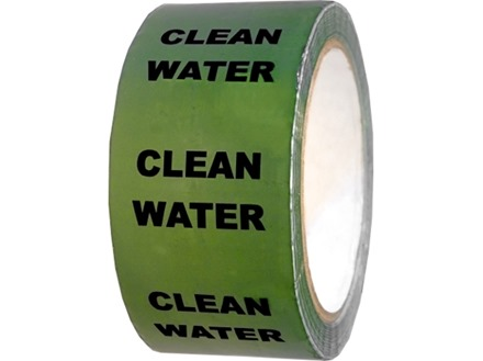 Clean water pipeline identification tape.