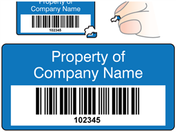 Scanmark destructible barcode label (text on colour), 19mm x 38mm