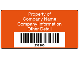 Scanmark barcode label (text on colour), 38mm x 76mm