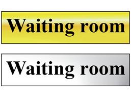Waiting room metal doorplate
