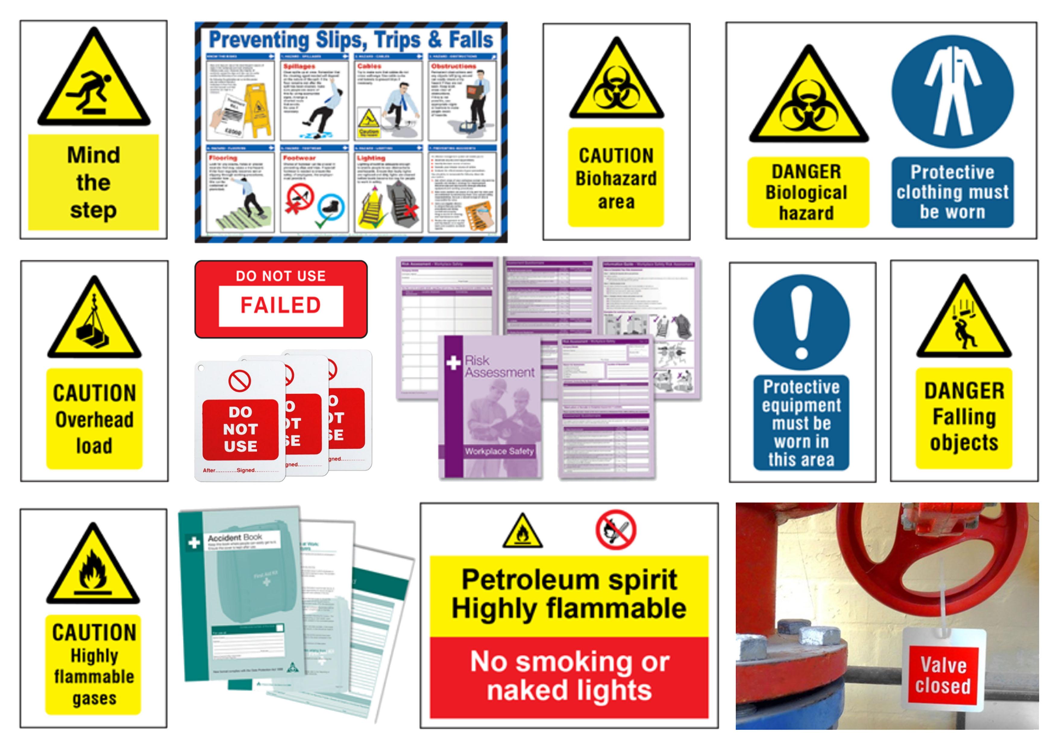 RIDDOR symbols and labels