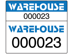 Dual Serial Number Computer Asset Tags