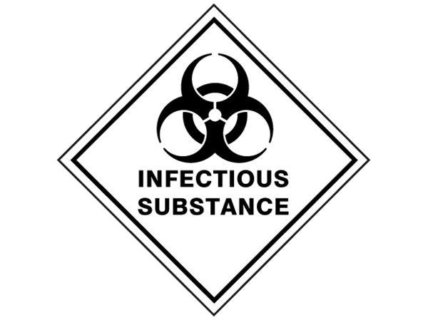 Infectious Substance Hazard Warning Diamond Sign Hw1090a Label