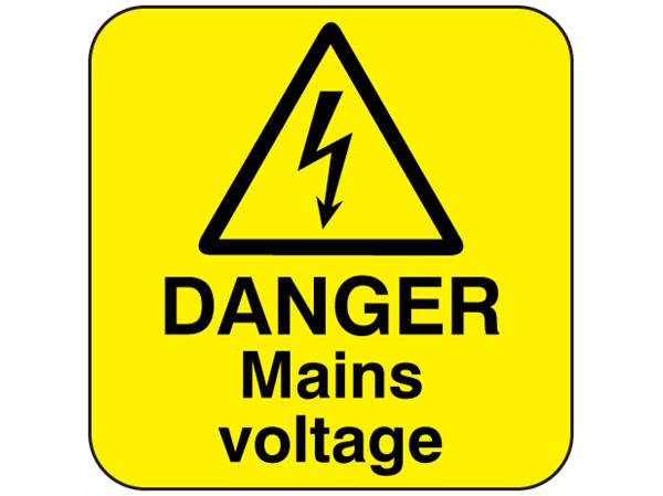 Mains Voltage Warning Sign