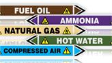 Pipeline Flow Pipe Label Stickers
